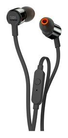 Fone De Ouvido Jbl T210 Preto Intra Auricular Com Microfone