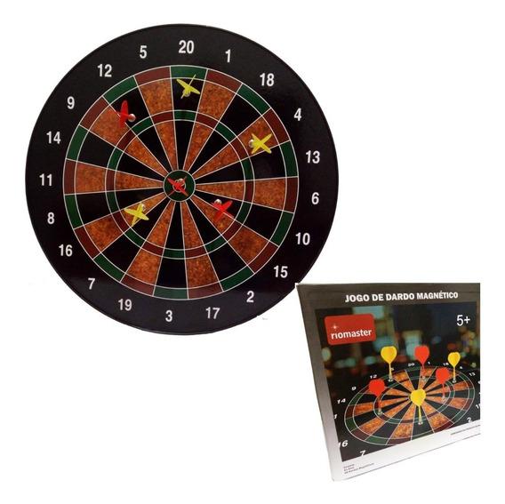 Jogo De Dardo Magnetico 40,5 Cm 1 Alvo Com 6 Dardos Parede