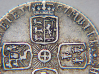 Antigua Moneda Six Pence Gran Bretaña 1757 -george Ii