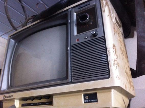 Tv Televisão National Funcionando 110w Antiga Vintage