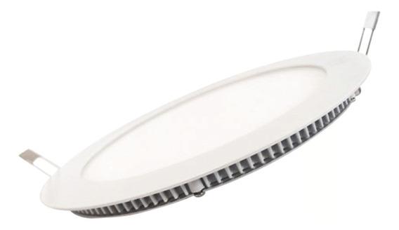 Kit 10 Painel Plafon Led Embutir Slim Redondo 18w Branco Que