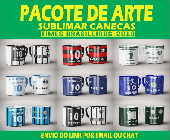 Pacote De Arte Para Sublimação De Canecas Times Brasileirão