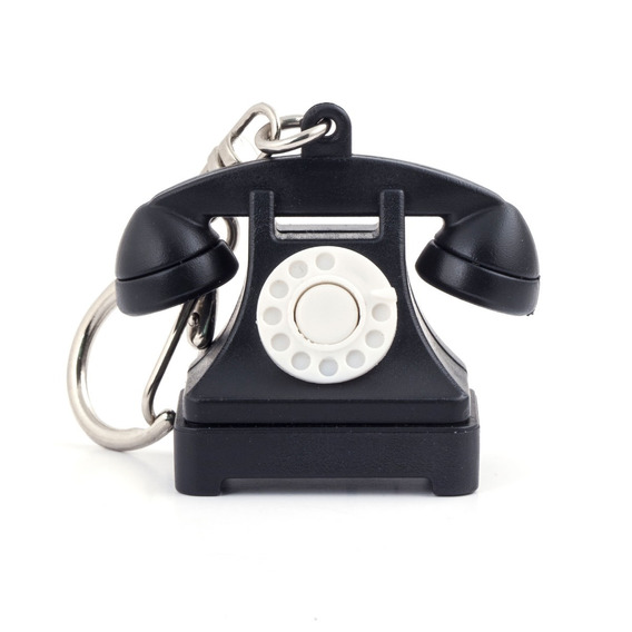 Llavero De Teléfono Retro Con Sonido De Número No Disponible