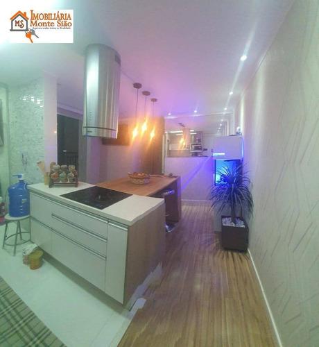 Imagem 1 de 25 de Apartamento Com 3 Dormitórios À Venda, 57 M² Por R$ 359.000,00 - Vila Rio De Janeiro - Guarulhos/sp - Ap1868