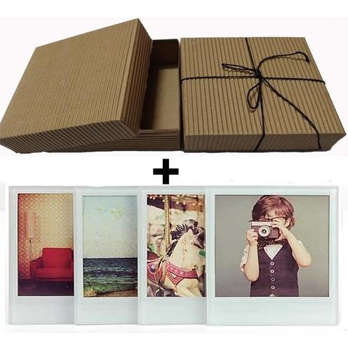 Caja Para Regalo 11x11cm + 20 Fotos Simil Polaroid