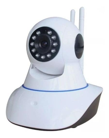 Câmera Ip Wifi Noturna Rotativa 2 Antenas Wireless 720p