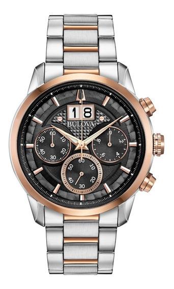 Reloj Bulova Sutton Crono Hombre 98b335 Original E-watch