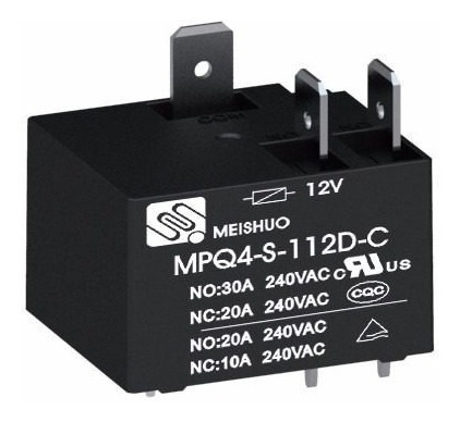Relé Mpq4-s-112d-a Meishuo 30a 240vac Ar-condicionado Split