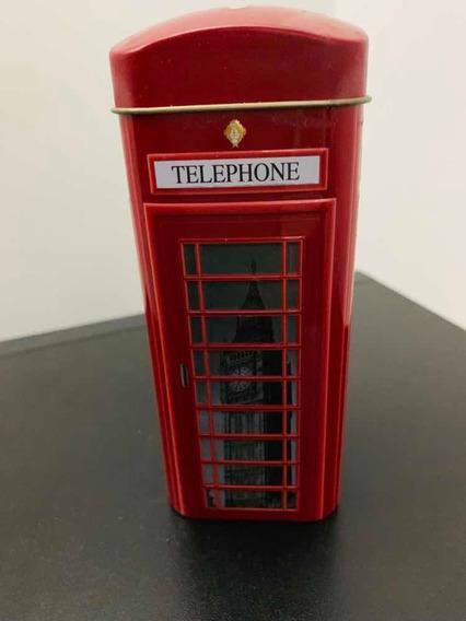 Lata De Té Alcancía Inglés Telephone Box Souvenirs