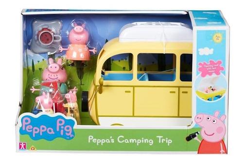 Peppa Pig Campervan Vehiculo Dia De Camping Familia Y Acc