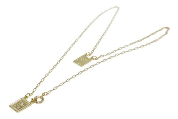 Colar Escapulário Dourado Folheado Ouro 18k Senhor Guie C434