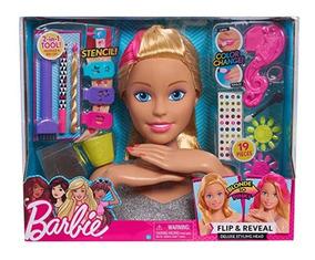 Cabeça Boneca Barbie P/ Pentear Maquiar E Fazer Unhas