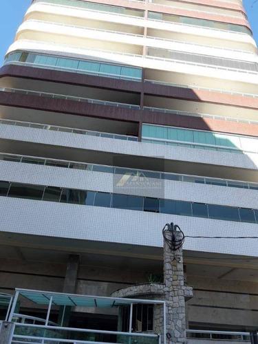 Apartamento Com 2 Dormitórios À Venda, 100 M² Por R$ 450.000,00 - Vila Guilhermina - Praia Grande/sp - Ap1664