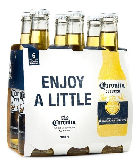 Cerveza Coronita 210 Cc Pack X 6 Unidades