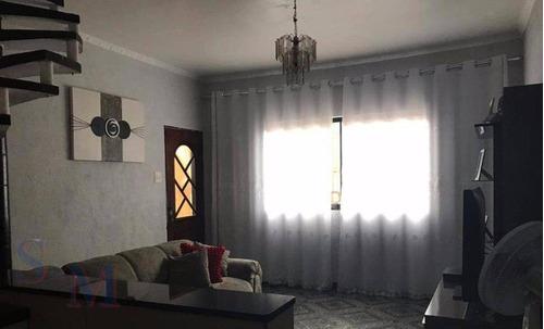 Imagem 1 de 8 de Sobrado Com 3 Dormitórios À Venda, 188 M² Por R$ 335.000,00 - Vila Lucinda - Santo André/sp - So0405