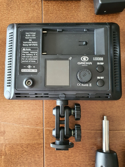Kit 2 Iluminadores Led Digital Godox 308 Controle Profission