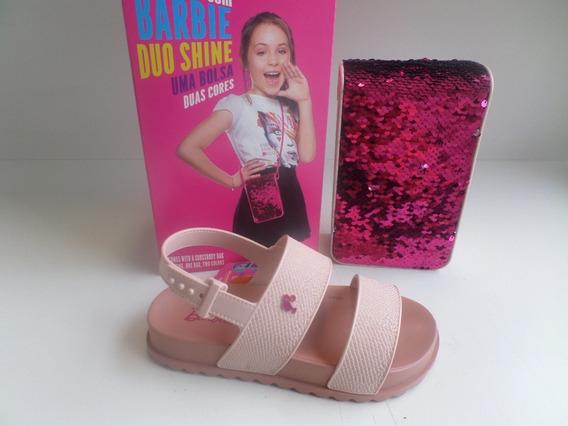 Sandália Infantil Barbie Duo Shine Grendene