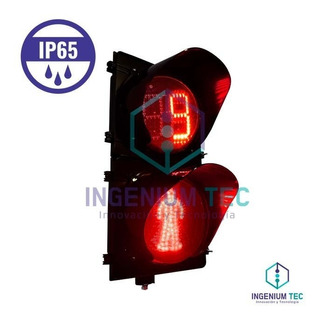 Semáforo Peatonal Led De 2 Luces Ip65