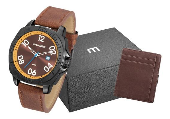 Relógio Masculino Pulseira De Couro Mondaine 76689gpmvph1