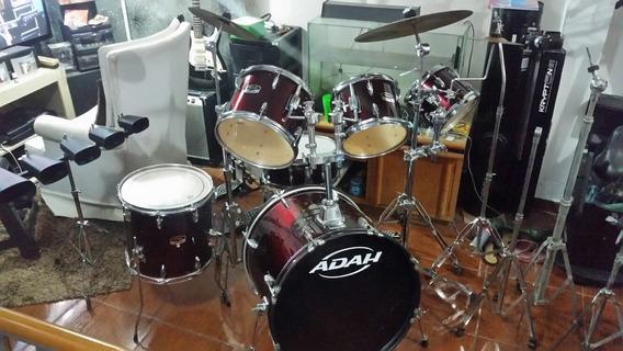 Bateria Live Series Adah Vermelha + 3 Tons +kit Cowbell De5