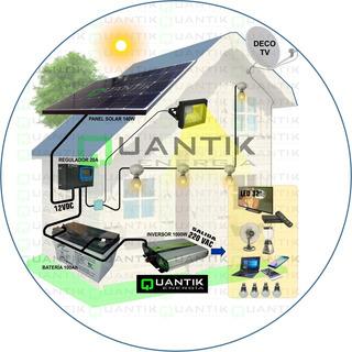 Panel Solar 150w, Completo:batería+inversor+regulador+4 Foco