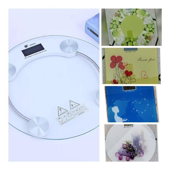 Báscula Cristal Templado Digital Para Baño 180k Max Diseños!