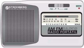 Radio Am Fm Portatil Stromberg Ra P02 Auriculares Parlante.