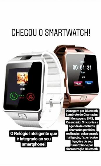 Super Relógio Celular Smartwatch Digital Chip Câmera Touch