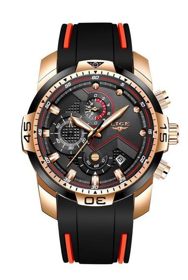 Relógio Lige Masculino Quartzo Luxo Original Lançamento Top