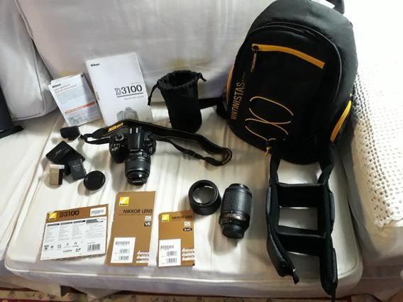 Câmera Digital Semi-nova D3100 Semi-profissional