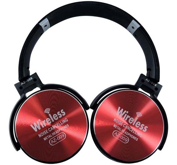 Fone De Ouvido Bluetooth Com Microfone Sem Fio - Vermelho