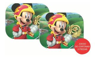 Juego Cortina Parasol Auto Lateral Plegable Disney Mickey 1
