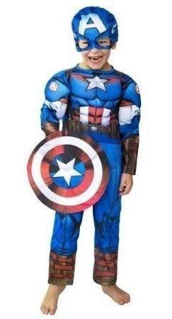 Disfraz Capitan Amerca Marvel Avengers Con Músculos (talle2)