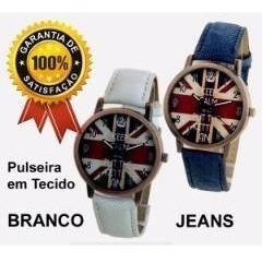 Relógio Casual Bandeira Reino Unido