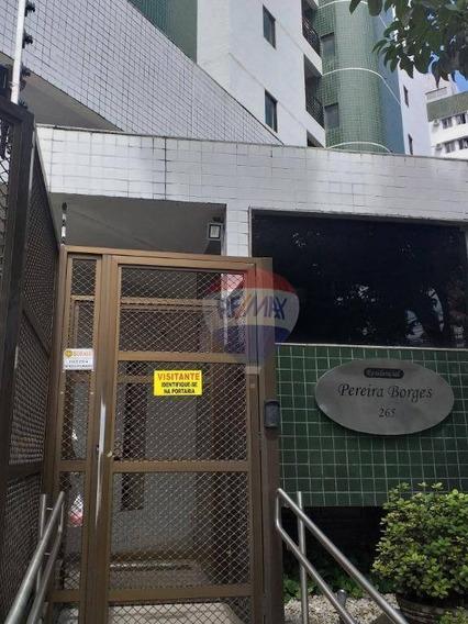Apartamento Com 3 Dormitórios Para Alugar, 85 M² Por R$ 1.833/mês - Graças - Recife/pe - Ap0542
