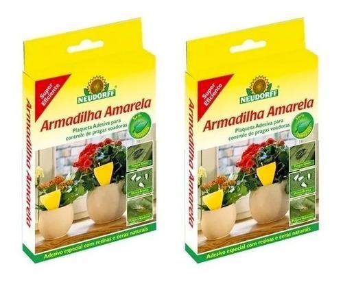 20 Un Armadilha Amarela Adesiva Neudorff Placa 2cx C/ 10cada