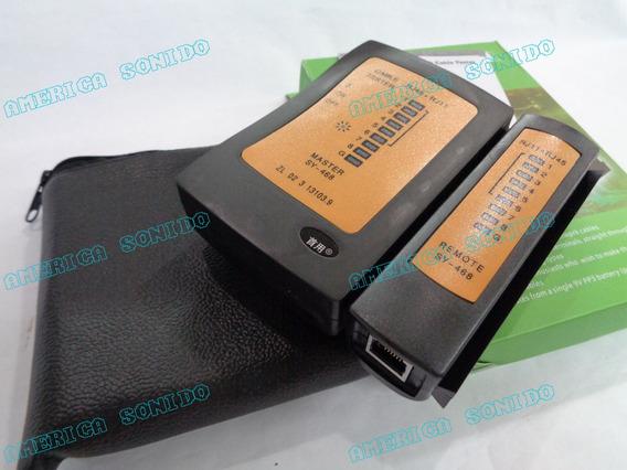 Tester Probador Cable Lan Rj45 Y Rj11 Con Estuche