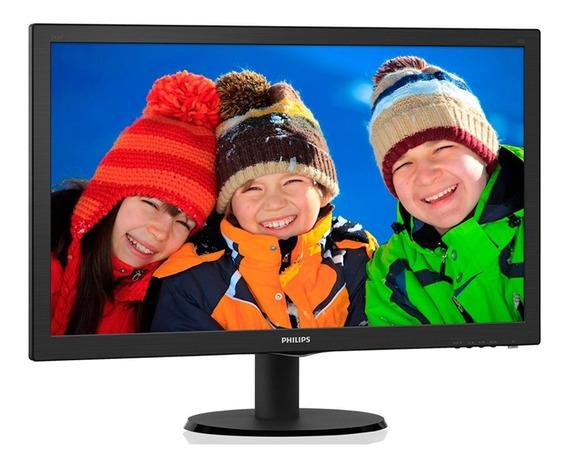 Monitor Led Philips 23.6 Polegadas Hdmi Speaker 243v5qhab