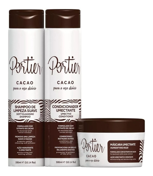 Portier Cacao Uso Diário Kit Completo (3 Produtos) + Brinde