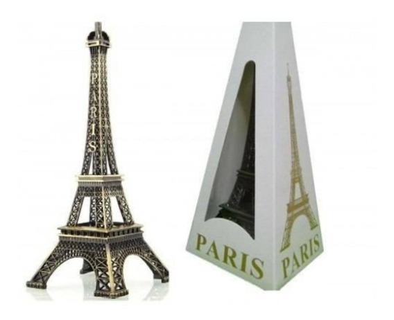 Enfeite Miniatura Metal Torre Eiffel Paris 13cm Decoração