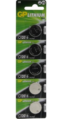 Bateria Pila Gp Cr2016 Blisters De 5 Unidades (0124)