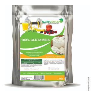 L-glutamina Pó Pura 1kg Glutamina Pura + Brinde