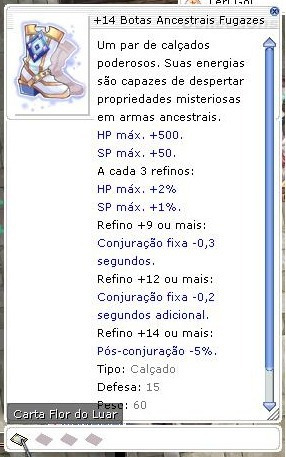 Botas Ancestrais +14 Ragnarok @thor Com Flor Do Luar