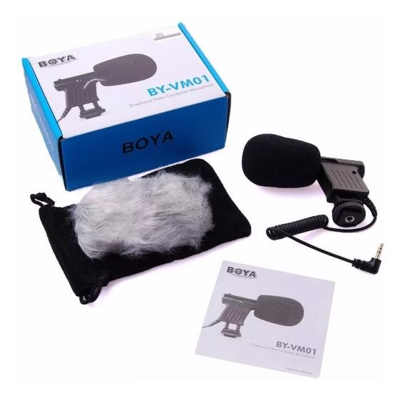 Microfone Condensador Dslr Vm01 Canon T6i 70d 80d 7d T5 T6