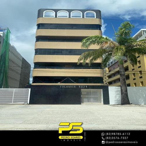 (oportunidade)  Apartamento Com 4 Dormitórios À Venda, 163 M² Por R$ 750.000 - Bessa - João Pessoa/pb - Ap4172
