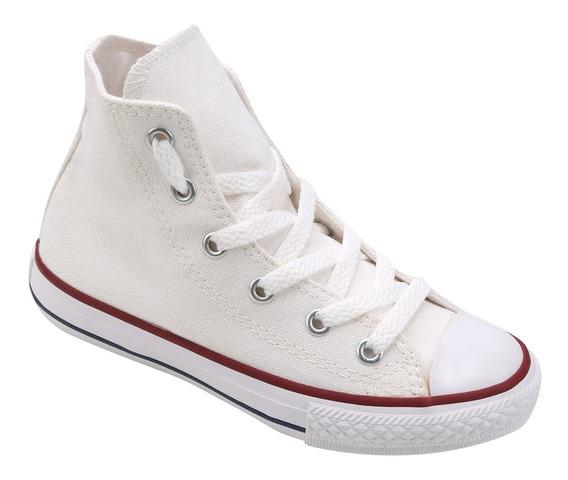 Tênis Converse All Star Cano Alto Branco Off White Infantil