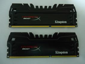 Memória Ddr3 Hyperx Beast 8gb (2x4gb) 1600mhz Perfeitas 100%