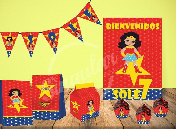 Mujer Maravilla. Kit Imprimible Personalizado. Wonder Woman