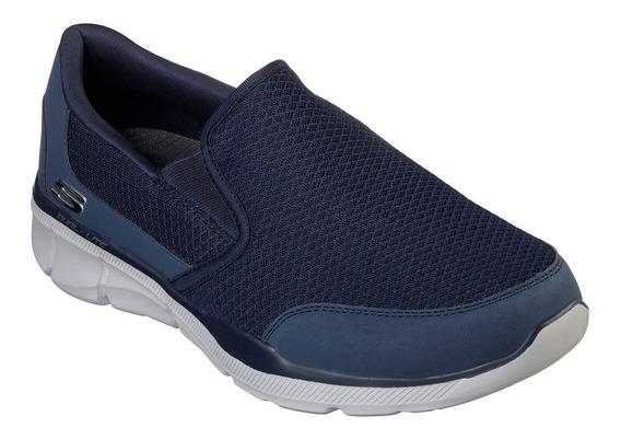 Zapatillas Skechers Equalizer 3 Bluegate Hombre Memory Foam