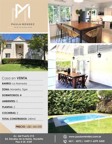 Casa - Venta - 5 Ambientes -  La Alameda - Nordelta - Tigre - Zona Norte